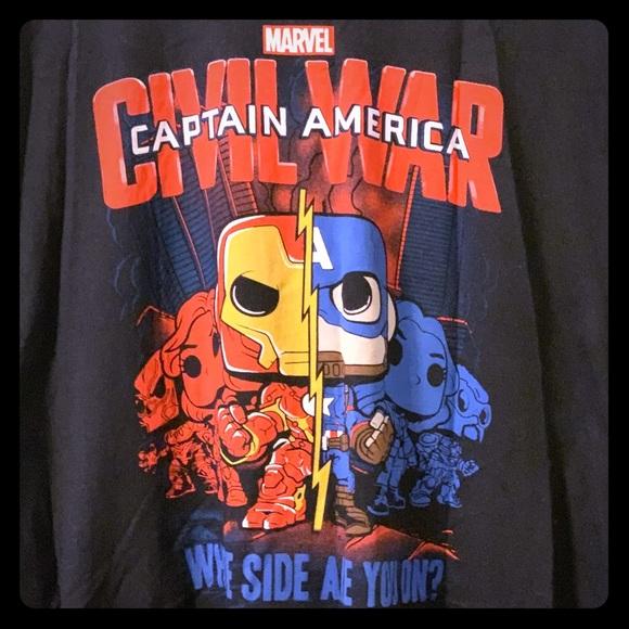 "Marvel Other - Marvel/Funko ""Captain America: Civil War"" Tee, 3XL"